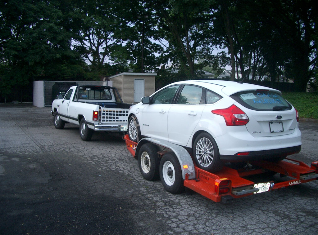 Ford Focus Electric on Trailer